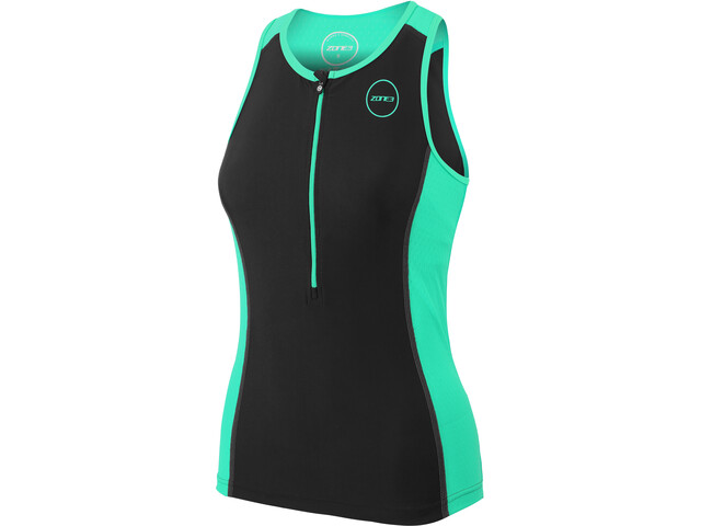 Zone3 Aquaflo+ Tri Top Damer, black/mint